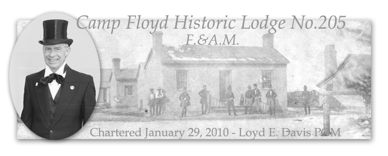 Camp Floyd Historic Masonic Lodge No. 205 Free and Accepted Masons of Utah